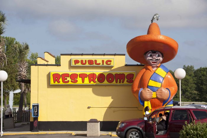 """4. """"I wonder where the restrooms are..."""""""