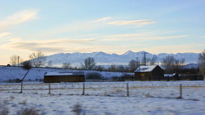 2. The winter sun and the snow make this Montana farm shine.