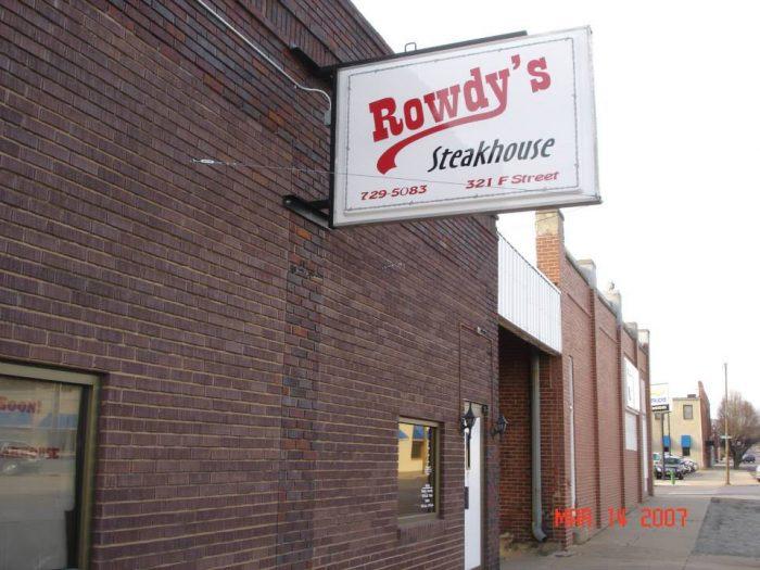 ..and check this Fairbury restaurant too: Rowdy's Steakhouse - 321 F St, Fairbury, NE 68352