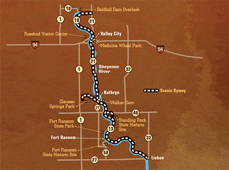 6. Sheyenne River Valley National Scenic Byway