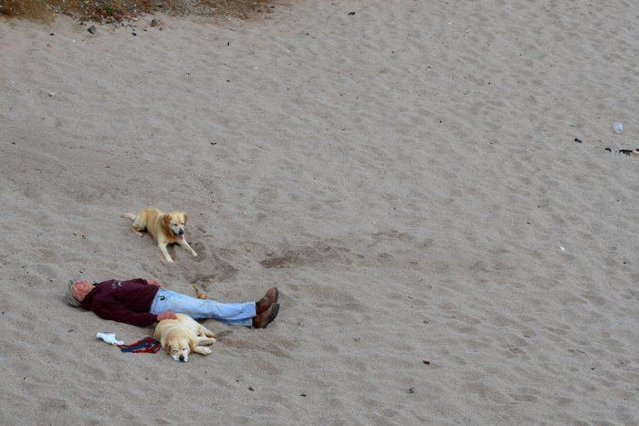7. No one may sleep on the beach after dark.