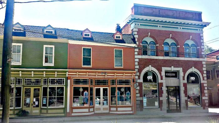 The downtown area is lined with charming storefronts. Taking a stroll here is like taking a step back in time.