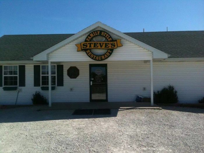 13.  Steve's Family Style Restaurant – Lohman, Mo.