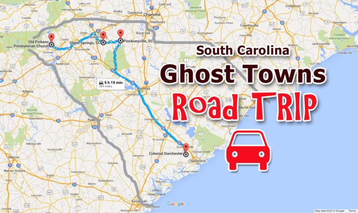 A Haunted Road Trip Through South Carolina Ghost Towns - South carolina towns map