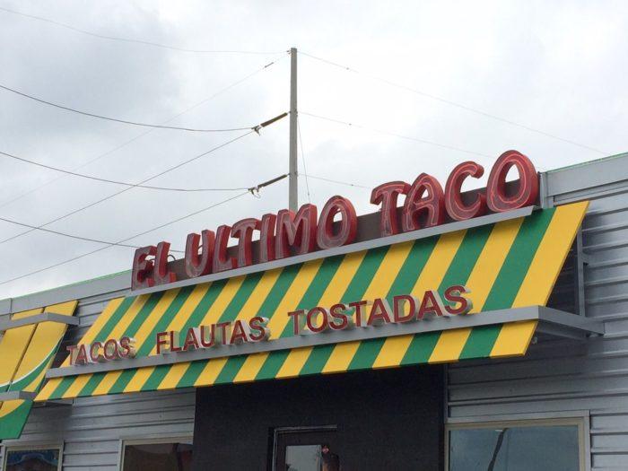 7. Bistek tacos at El Ultimo Taco (Brownsville)