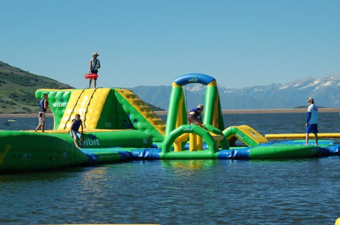 Inflatable Water Park With Bounce House