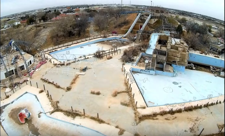 Amazing Drone Footage Of Abandoned Texas Water Park