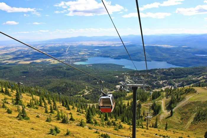4. The lift at Whitefish Mountain Resort… wow.