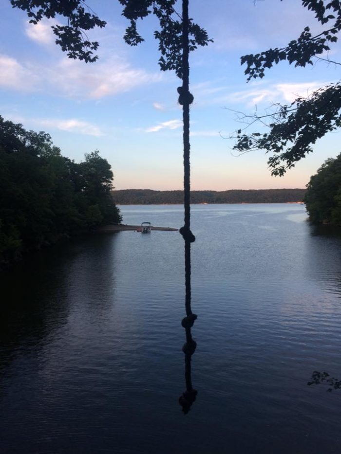 And if you're looking for a bit of a thrill, you'll definitely want to check out the lake's rope swing.