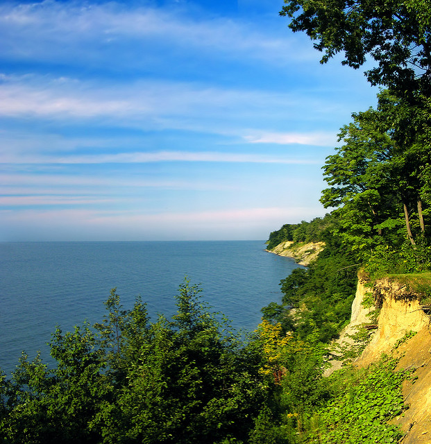 Erie Bluffs State Park boasts the largest span of undeveloped coastline - 540 of 587 acres remain undeveloped - along the shoreline in Pennsylvania.