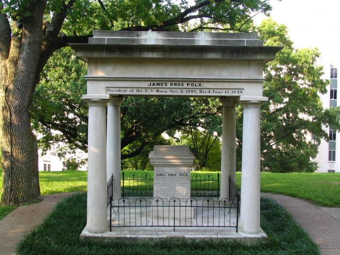 1. Burial Place of James K. Polk
