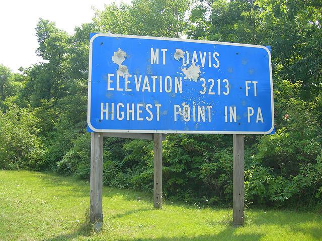 3. Mount Davis, Elk Lick Township