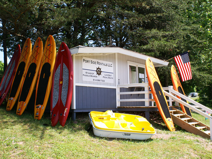 Rent a canoe or paddleboats...