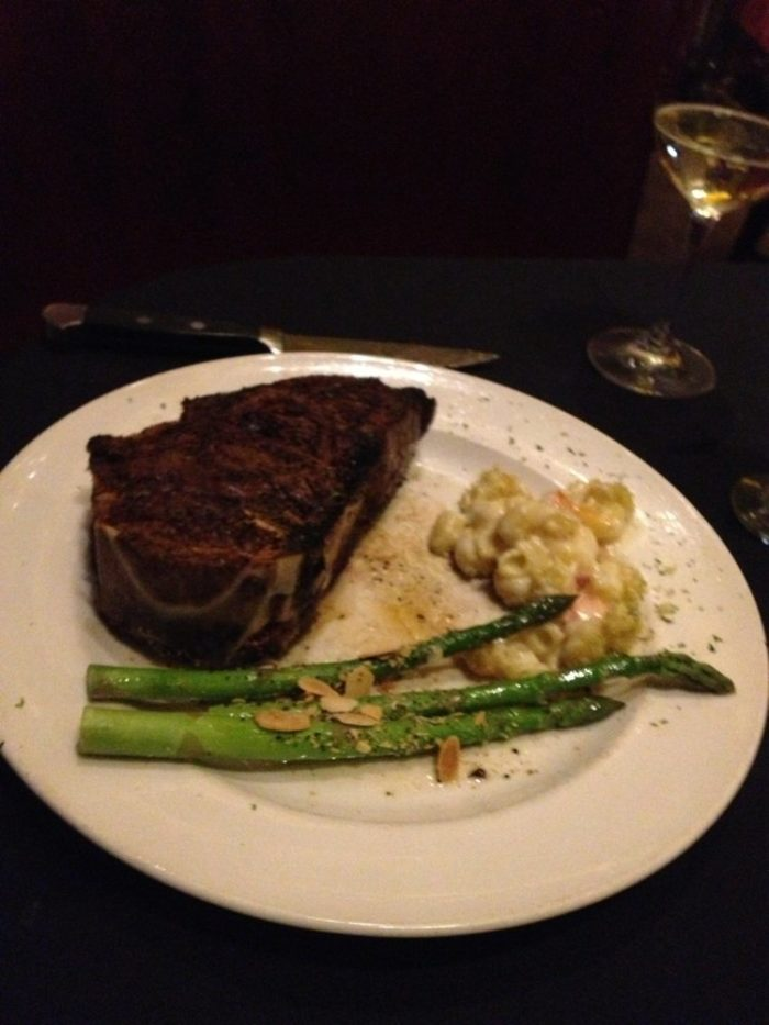 Peruse the menu to choose from one of the restaurant's hand-cut steaks, lobster, or fresh seafood entrees. Pair your main dish with such mouthwatering sides as sauteed spinach, onion rings, baked potato, or king crab gnocchi.