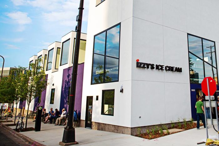 The Minneapolis location is more than just an ice cream kitchen, but a stunning factory as well, where ice cream is created for grocery and restaurant customers. It has even won Real Estate awards!