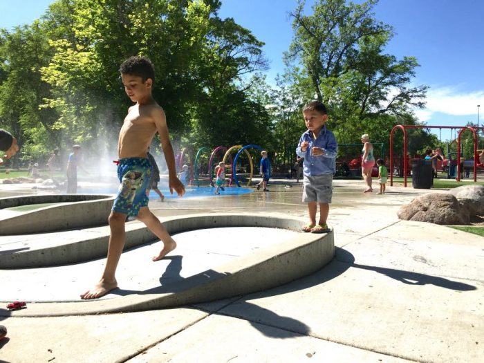 The Rotary Playground has a splash pad, swings and areas for both toddlers and older kids.