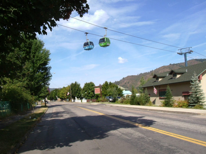 4. Ride the Silver Mountain Resort gondola in Kellogg.
