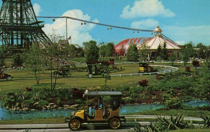 3. Antique Cars at Kings Island Amusement Park: circa late 1970s