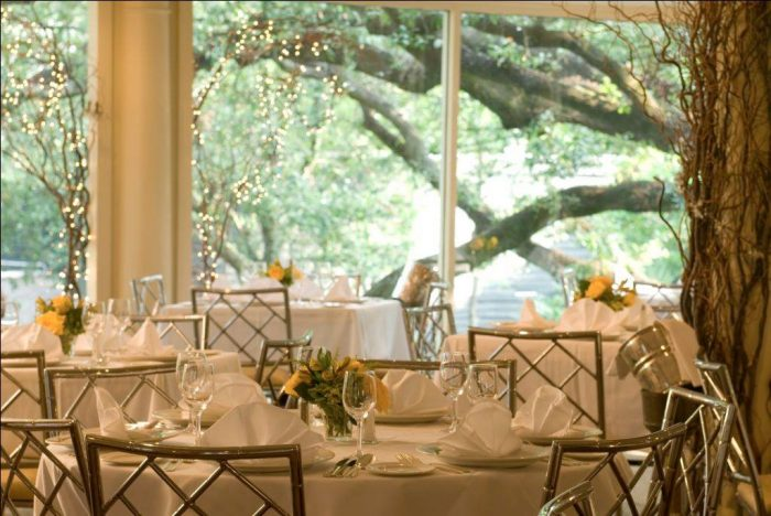 Dining in the Garden room, pictured here, is sure to give you and your party a wonderful time.