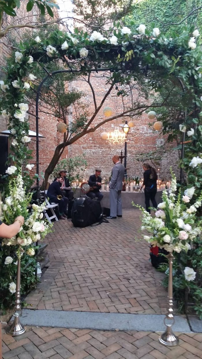 The space is also available for weddings. The courtyard making a gorgeous venue for your special day.