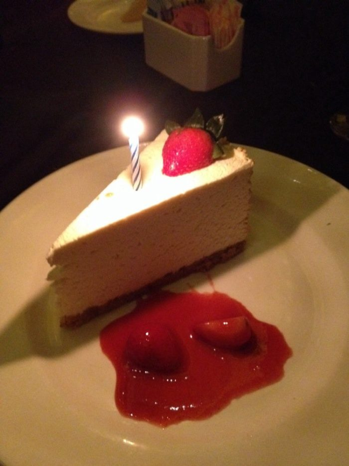 Don't forget to leave room for a devilishly delicious dessert of chocolate mousse or cheesecake.