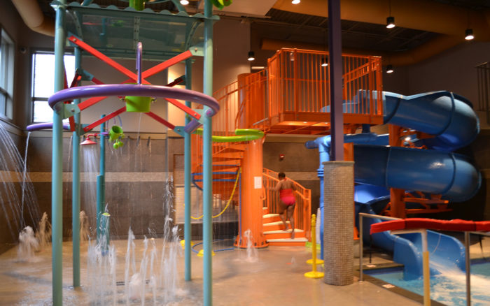 Kids of all ages (and that includes adults!) can zip down slides and enjoy an indoor water adventure, perfect for a break from the hot sun or on those rainy days, at Splash Zone.