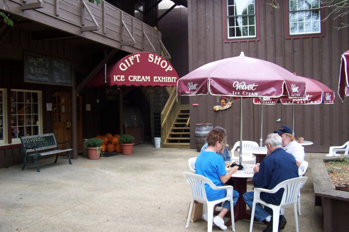 ...or take your ice cream out to the patio if it's a nice day. Be sure to stop at the gift shop and check out the colorful museum before you leave.