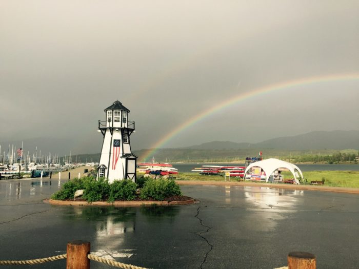 The Marina Office and Retail Store can provide you with all of your merchandise needs...and perhaps a remarkable Colorado rainbow.