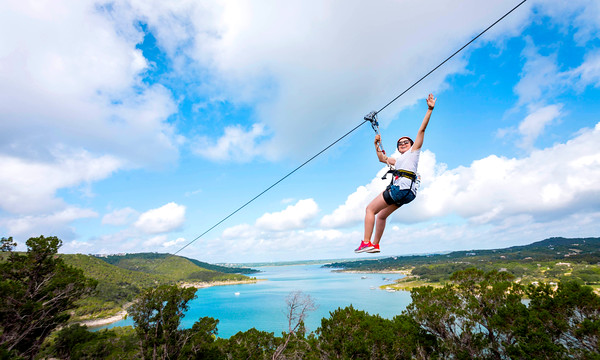 10. Fly through the air at the Lake Travis Zipline.