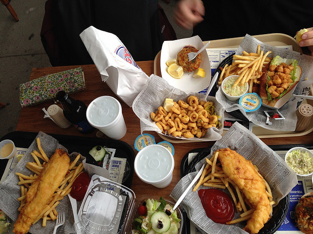 10. You'll actually need to get used to every fried seafood dish you can imagine.