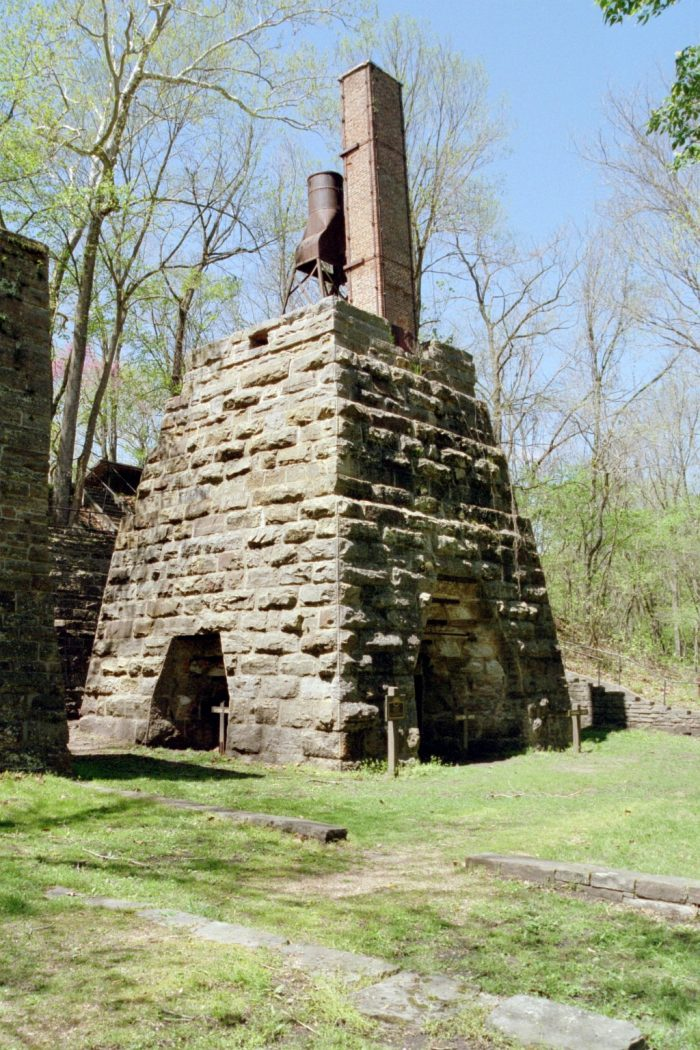 The spring was once the site of Maramec Iron Works, which was built in 1843 and closed in 1876. If you go, be sure to check out the ruins.