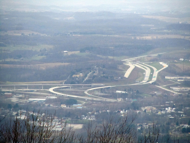 13. The tolls might go up every year but at least we can enjoy a beautiful aerial view of the Pennsylvania Turnpike, right?