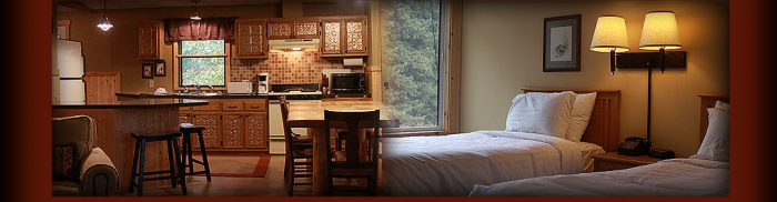 You can stay in the lodge or one of the 10 gorgeous private cabins and enjoy the luxurious accommodations.