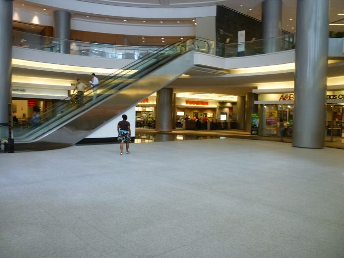 It's basically an underground shopping mall complete with retail stores and food courts.