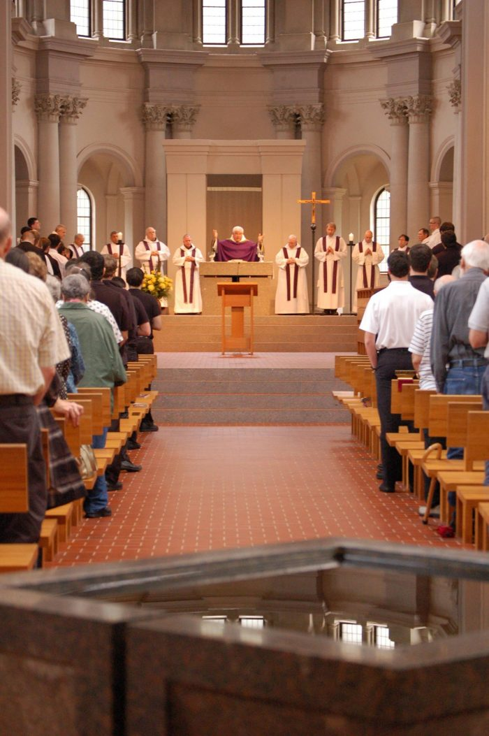 Of course, worship is at the center of this place and services are offered daily.