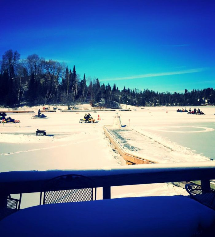 Their restaurant and bar are also some of the best in the area, and feature epic views of the lake year-round!