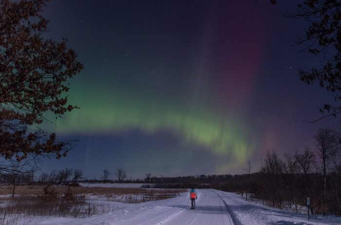 4. At Sherburne National Wildlife Refuge, the winter auroras are phenomenal!