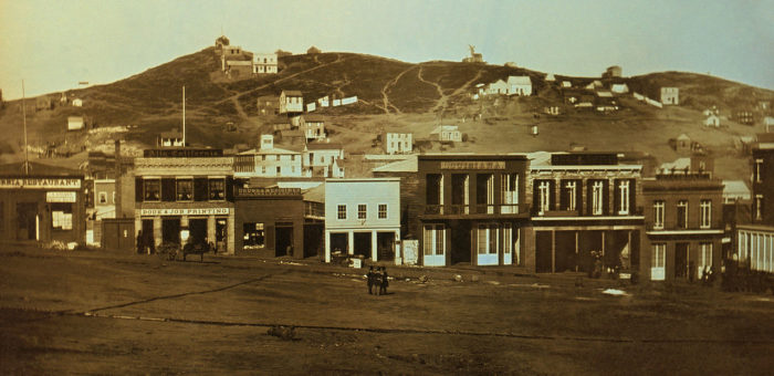 7. What Would Become Portsmouth Square in Chinatown: 1851 & Now