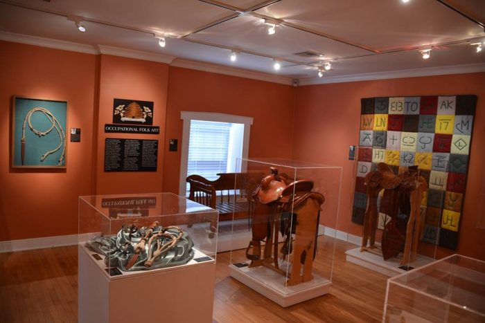 The museum includes tons of unique folk art from around the state.