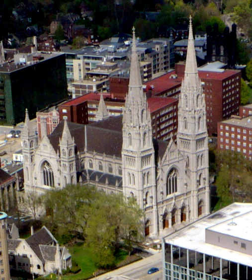 7. St. Paul's Cathedral, as seen from the 36th floor of the Cathedral of Learning.