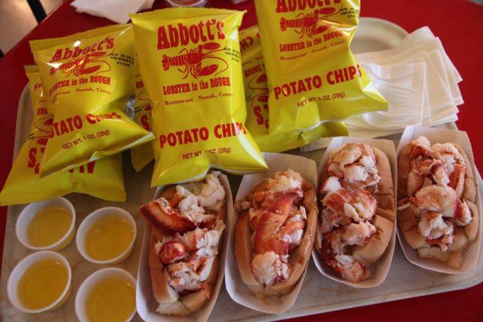 9. Hot Lobster Roll (Abbott's Lobster in the Rough, Noank)