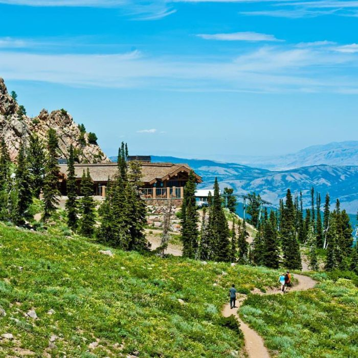 Snowbasin has 26 miles of trails for hiking and mountain biking.