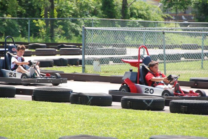 ...and for even more family fun, be sure to check out the go-kart race track...