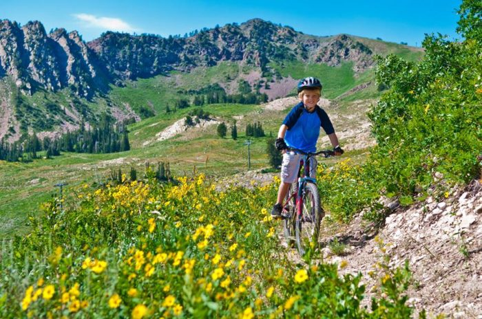 It's a great place to mountain bike.