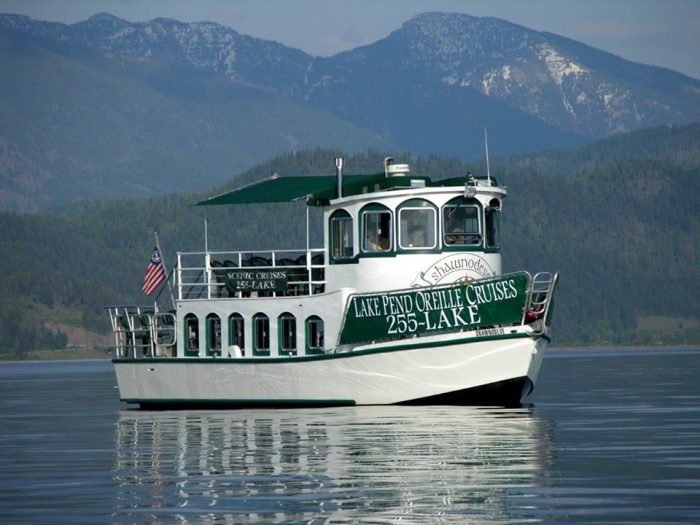 After an afternoon show at the historic Panida Theater or stroll across the Cedar Street Bridge, take your Pend Oreille experience to the next level with a romantic cruise on the lake.