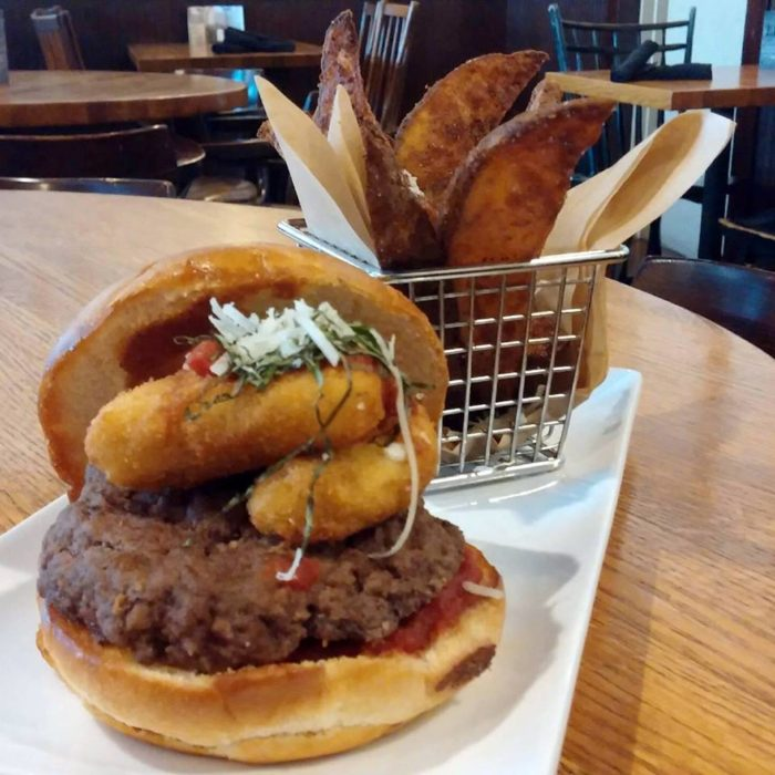 On the menu, you'll find anything from delicious, juicy burgers, such as this pictured Italian Burger...
