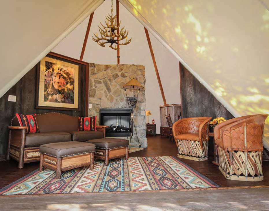 7 luxury glampgrounds in florida - Ranch americain poet interiors houston ...