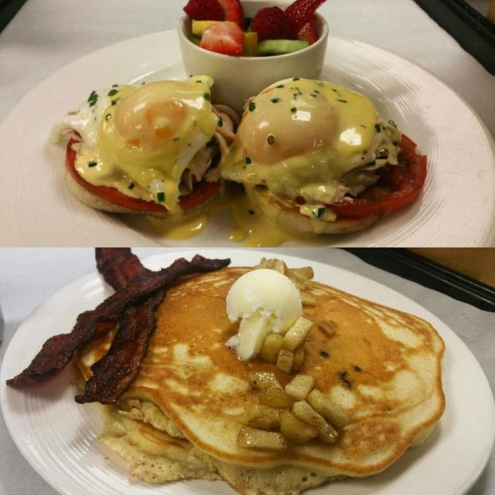 You'll also find all the classic, homestyle meals. Not to mention exceptional brunch options (pictured.)