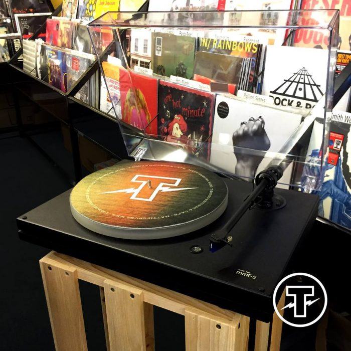 T-Bones is filled with music. Because it's also a record store, right?