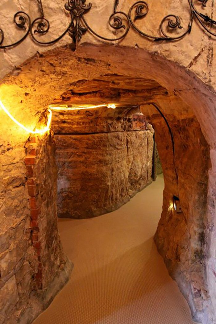 The Joseph Wolf Brewery Caves span a massive amount of space underneath the restaurant, and the history behind them is fascinating.